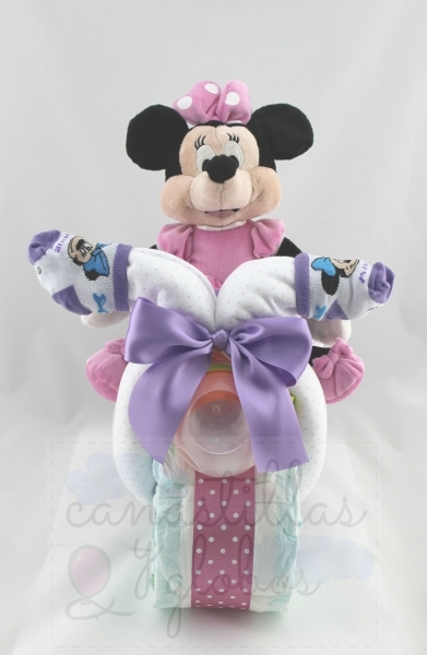 Moto de pañales Minnie Mouse